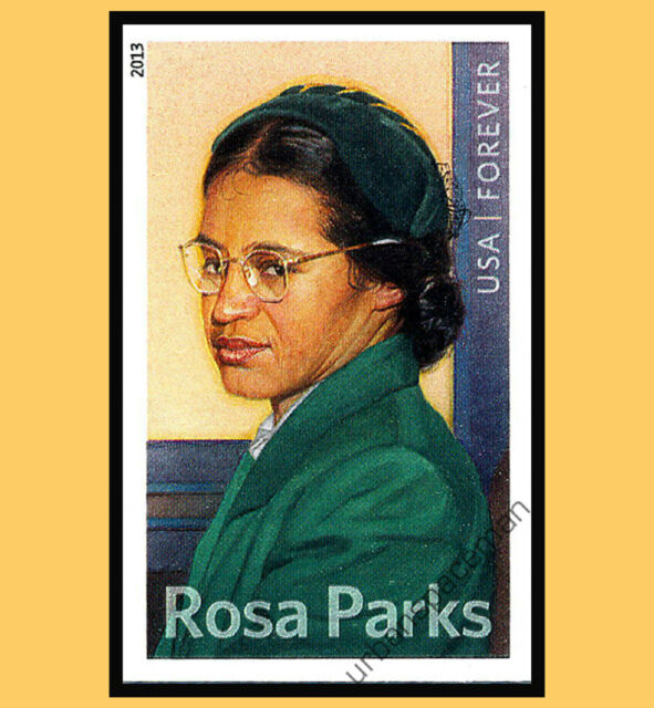 4742 Rosa Parks Imperf Single from Imperforate Press Sheet No Die Cuts