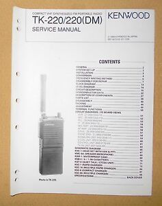 kenwood tk 220 220 dm vhf synthesized fm two way portable radio rh ebay com Kenwood Tk 290 kenwood tk-280 user manual