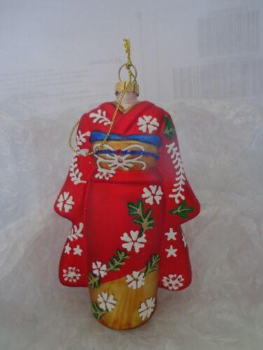 """/""""Kimono /""""rouge avec motifs verre cadeau de Noël Décoration"""
