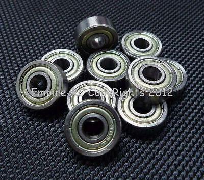 (10 Pezzi) 605zz (5x14x5 Mm) Metallo Schermato Cuscinetto A Sfera 605z 5 14 5