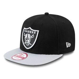 Caricamento dell immagine in corso NEW-ERA-GRIGIO -Oakland-Raiders-cotone-BLOCCO-cappello- 4768d6e72838