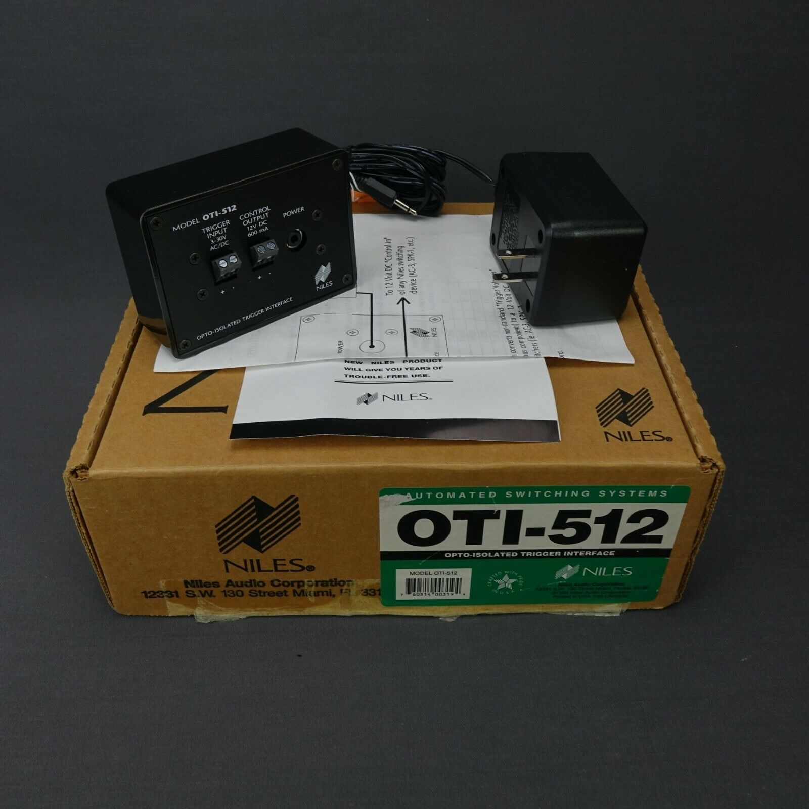 Niles OTI-512 Opto-Isolated Trigger Interface New in Box