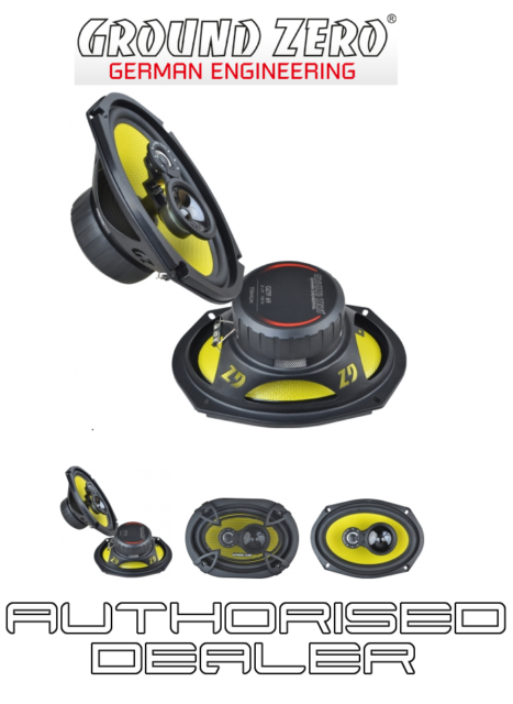 "Ground Zero GZTF 69 Car 6""x9"" 2 way coaxial car speakers 130w RMS inc grilles"