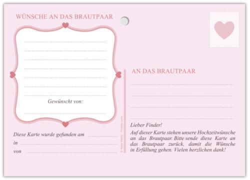 Ballonflugkarten Ballonkarten Hochzeit Luftballonkarten Postkarten Retro rosa