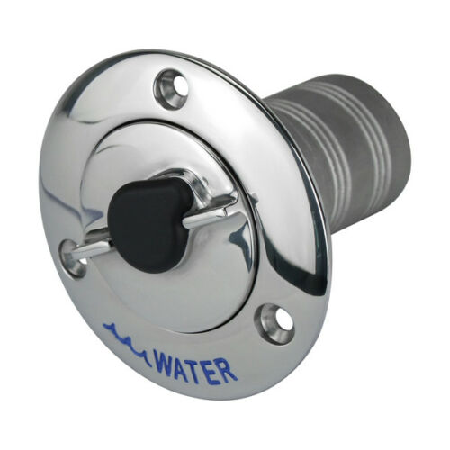 New Key Lockable Hose Deck Filler for Water 38mm Filler 316 Gr Stainless