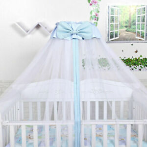 Boys-Girls-Mosquito-Net-Baby-Princess-Crib-Netting-Bed-Canopy-with-Bowknot-Decor