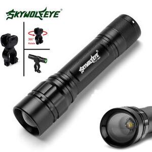 SkyWolfEye-50000LM-Focus-T6-LED-18650-Zoomable-Flashlight-Mini-Torch-Lamp-Holder