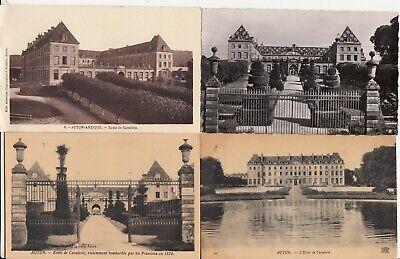 Lot de 4 cartes postales anciennes old postcards AUTUN école de cavalerie   eBay
