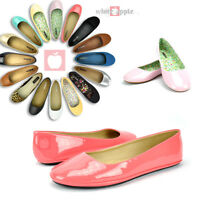 Women Round Toe Ballet Flats Low Heel Slip On Casual Comfort Shoes Soda Afar