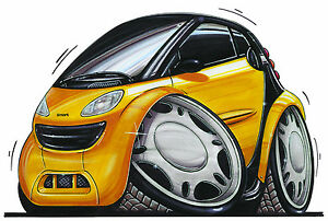 Image Is Loading Smart Car Printed Koolart Cartoon T Shirt 452