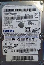 "MN40S FS PN Samsung HM080JI REV.B FW:YC200-12 435037-001 2.5/"" 80gb Sata HDD"
