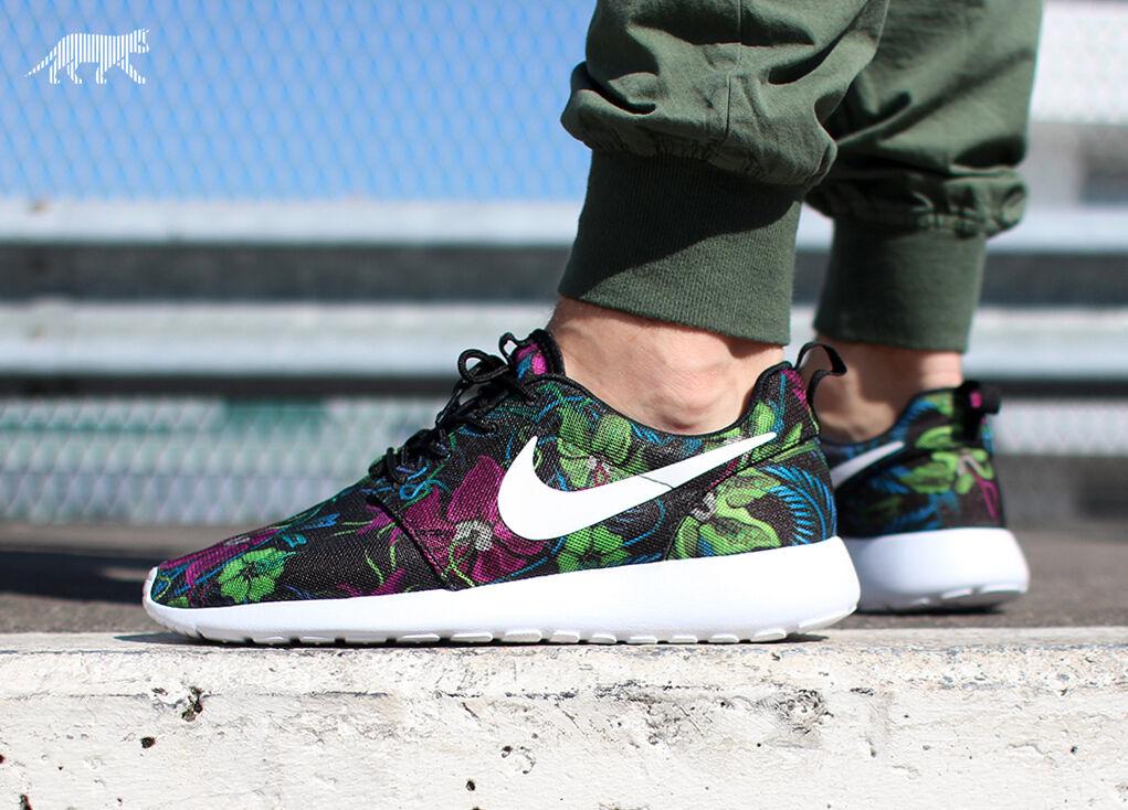 Nike rosherun stampa floreale smoky lotus formatori scarpe palestra moda - ()