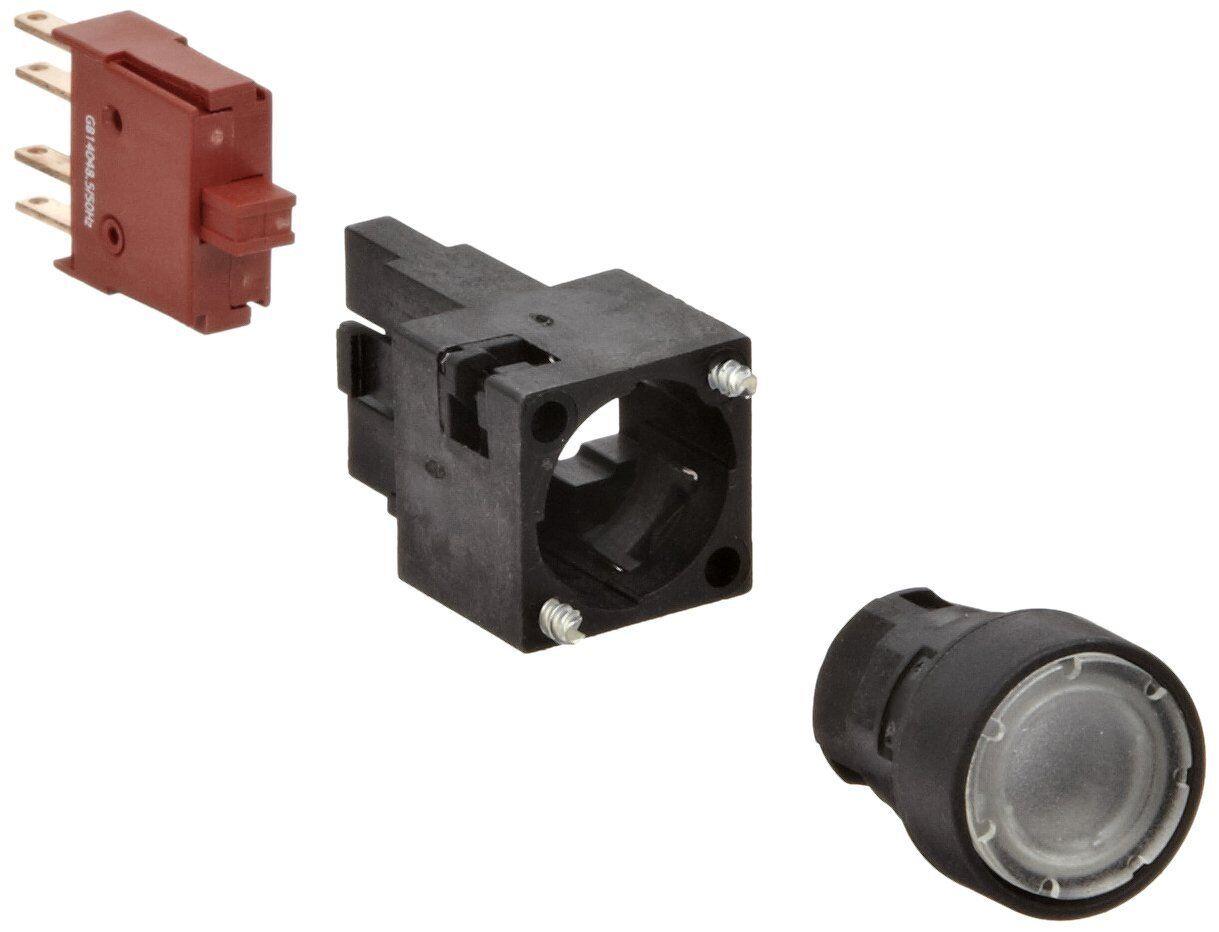 Siemens 3SB22 02-0AH01 Pushbutton Unit, Flat Button, 1 NO Contact Type, Clear