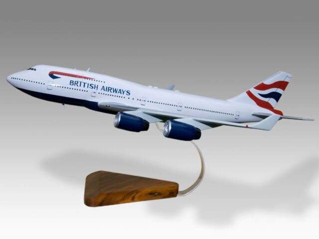 Boeing 747-400 British Airways Desktop Airplane Model