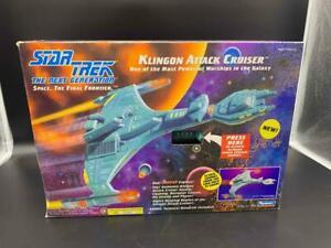 Vintage 1993 Playmates Star Trek Klingon Attack Cruiser Toy in Original Box