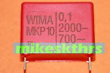 FK.34  5x WIMA MKP 10 Polypropylen Kondensator 0,1µF - 2000- 700~ 100nF Rm27,5mm