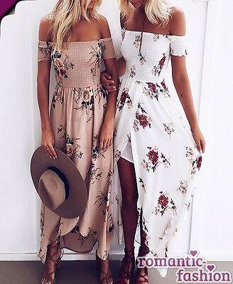 ♥Größe 34 bis 40 Abendkleid Sommerkleid Strandkleid  Weiß od. Kaffee+NEU♥