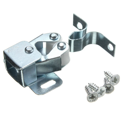 Silver Roller Catch Cupboard Cabinet Door Latch Twin Double Catches with Screws