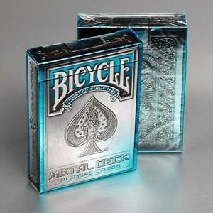 Metal-Deck-Playing-Cards-2nd-Edition-Blue-Bicycle-Made-in-USA