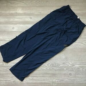 VTG-Columbia-PFG-Windbreaker-Pants-Navy-Blue-Men-039-s-L-W87