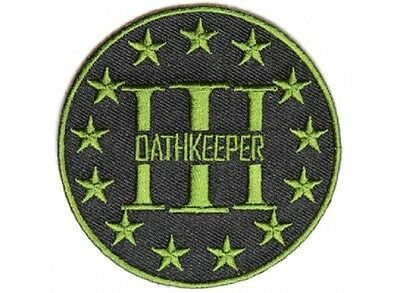 "Biker Militia Military 3/"" OATHKEEPER THREE PERCENTER 3/%er iron on patch 4782"