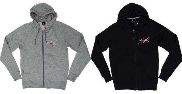 Men's NIKE Air Jordan Flight Full Zip Hoodie Fleece Lining (AV8057 063)