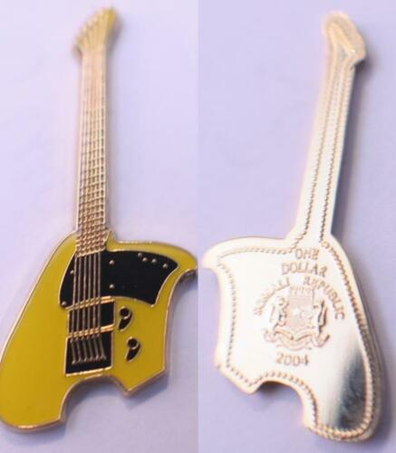 Ovation Yellow Breadwinner Guitar 2004 Somali Rep Gold Plate and Color