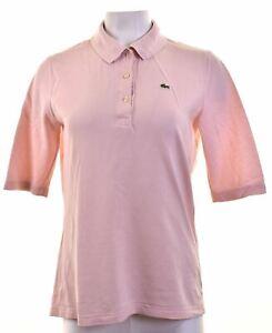 LACOSTE-Womens-Polo-Shirt-EU-44-XL-Pink-Cotton-Slim-EA05