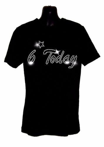 KIDS 7 today 7th Birthday T Shirt Crystal Diamante Design 4th 5th 6th 7th 8th
