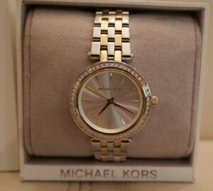 2b4de87c53ec NEW Michael Kors MK3405 Women s Mini Darci Two-Tone Stainless Steel ...