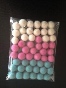 2cm Felt Balls Mixed Colours Wool Multi Colour Assorted DIY Craft Pom Poms Beads