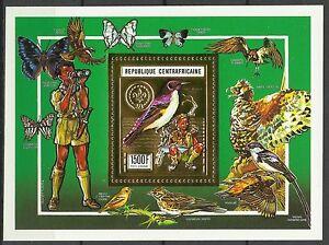 Centrafrique-Oiseau-Souimanga-Sunbird-Bird-Nektarvogel-Vogel-1990-Bloc-Or-Gold