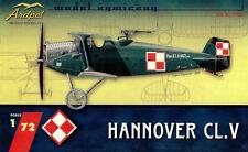 HANNOVER CL.V - WW I GERMAN FIGHTER (POLISH AF MARKINGS)  1/72 ARDPOL RESIN