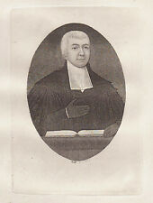 JOHN KAY Original Antique Etching. Rev. Dr. Buchanan, One of the Minist..., 1793