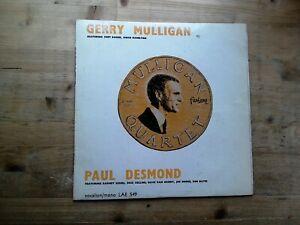 Gerry-Mulligan-Quartet-Paul-Desmond-Quintet-Very-Good-Vinyl-Record-LAE-549