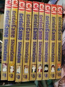 Lot-of-9-Manga-Girl-Got-Game-Vol-1-6-8-10-SHOJO-Japan-Comic-in-English-Cute