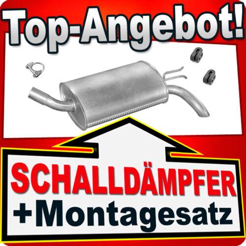 Endschalldämpfer RENAULT TWINGO 1.2 55//58//60 PS 1993-2007 Auspuff LME
