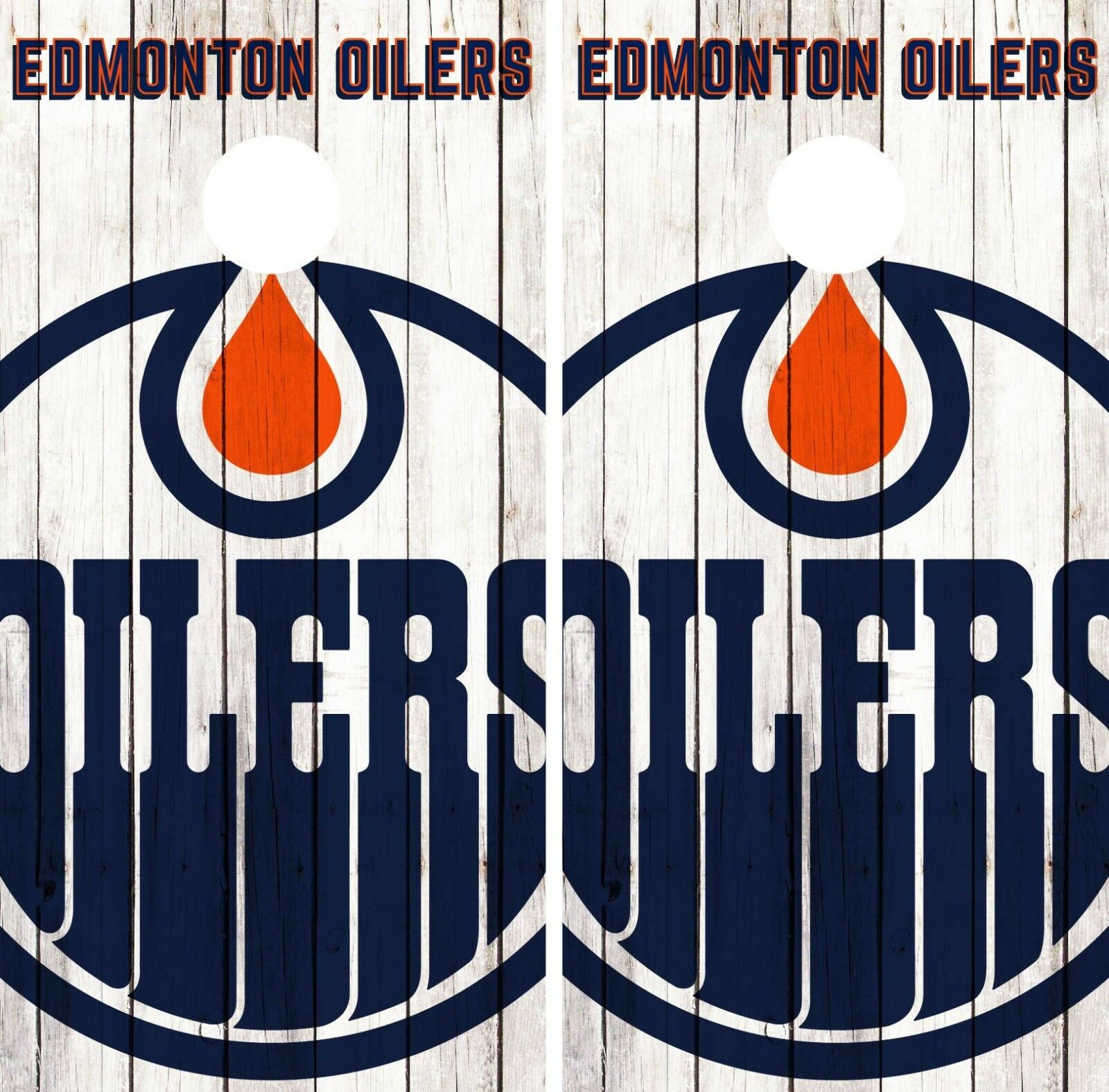 Edmonton Oilers Cornhole Wrap NHL Logo Game Board Skin Set  Vinyl Decal CO196  the best after-sale service