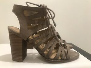 8de133ff3e8f Image is loading KENNETH-COLE-Reaction-Gladiator-Style-Strappy-Heeled-Super-