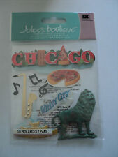 EK SUCCESS JOLEE'S BOUTIQUE CHICAGO RED WRITING DIMENSIONAL STICKERS BNIP