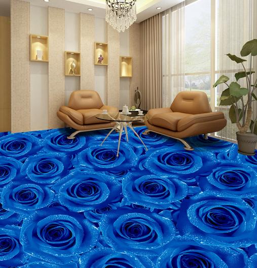 3D Blau Rose Modern 74 Floor WallPaper Murals Wall Print Decal AJ WALLPAPER US