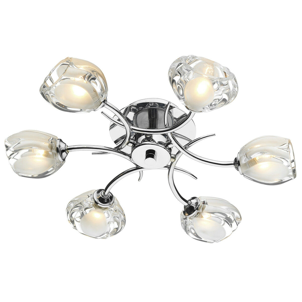 Dar Zagreb ZAG0650 Polished Chrome Ceiling Light Sale Offer