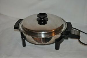 11 Stainless Steel West Bend 17884 Liquid Core Electric Fry Pan