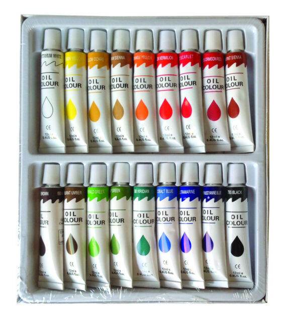 18 pc oil paint set professional artist painting pigment 12ml tubes ebay Oil based exterior paint brands