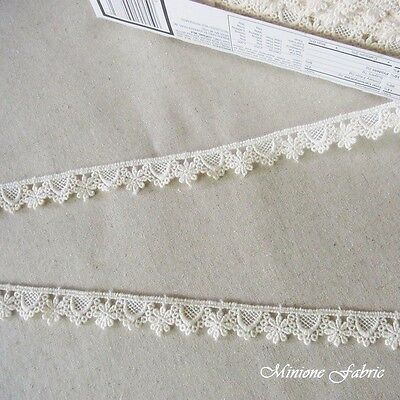 14 Yard  Vintage style Embroidery scalloped Cotton Crochet  Beautiful Lace Doll