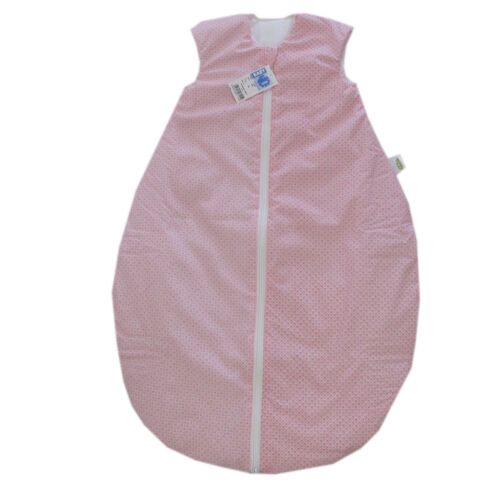 ODENWÄLDER Baby Nice Sac de couchage 90 cm contient des temps fille et rembourré rose