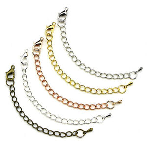 50x-70mm-Link-Chain-Tail-Extender-Jewelry-Finding-Necklace-Bracelet-Craft-DIY-YK