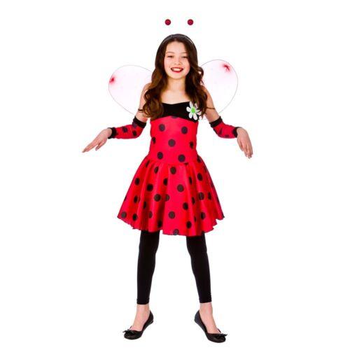 BAMBINO BELLA LADYBUG Coccinella Girl Costume Vestito Libro Settimana Età 3-10