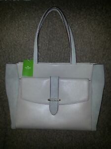 992bc23435ca4 Image is loading KATE-SPADE-Roselyn-Hunts-Place-Moussfrost-Suede-Leather-