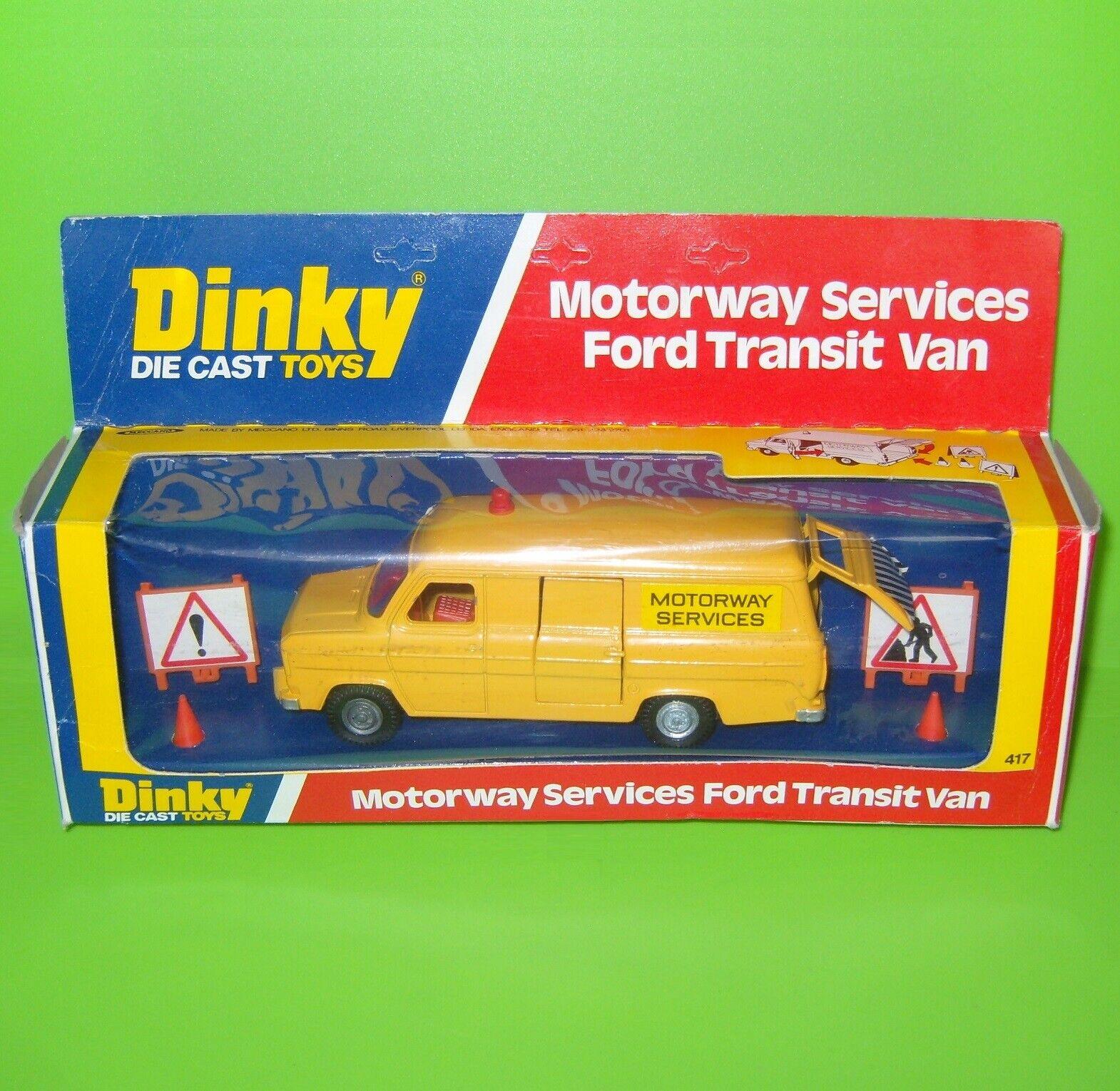 Dinky   417 Ford Transit 'Motorway Services' Van   Boxed